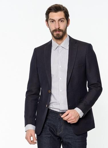 Daffari Slim Fit Blazer Ceket Kahve